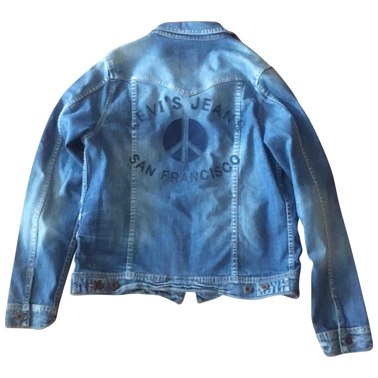 Levis - Blousons.Manteaux   pour enfant en denim - bleu