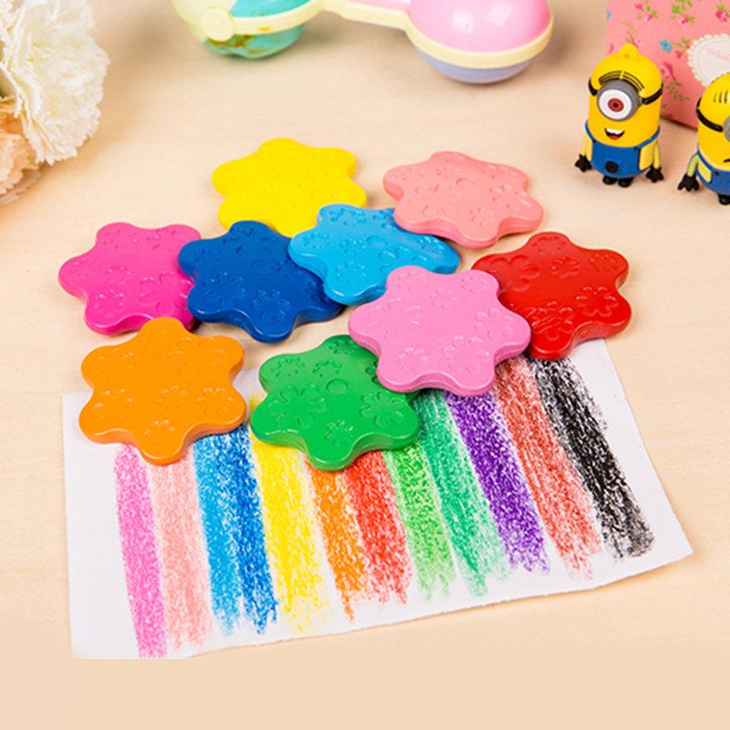 12 Color Creative Snowflake Crayon Colored Pencils Painter Tool for Children School Art Supplies