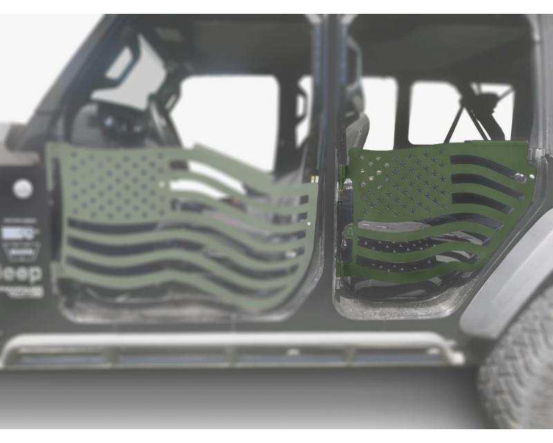 Steinjager J0049426 Doors Trail Locas Green Jeep Wrangler JL 2018+