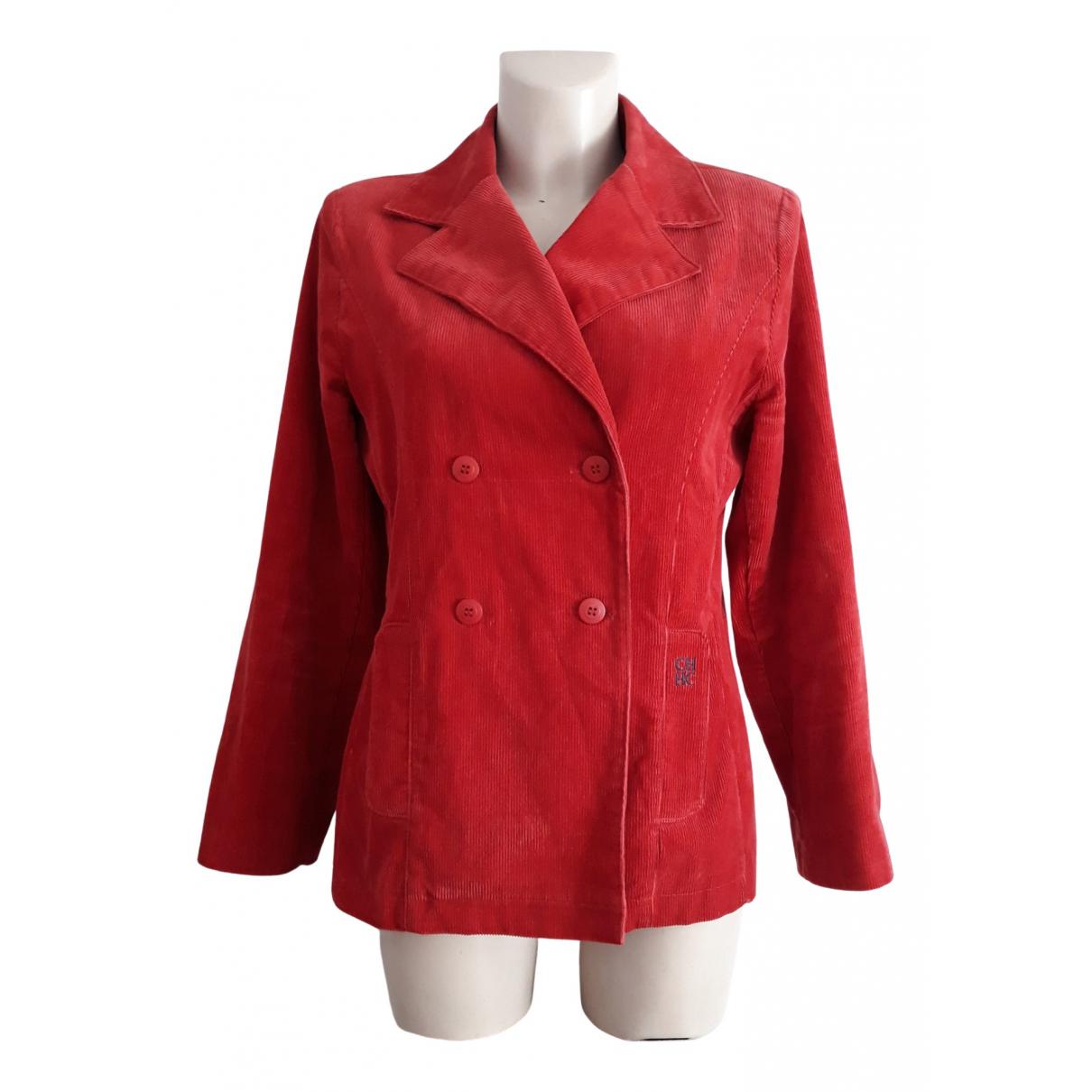 Carolina Herrera \N Jacke in  Rot Baumwolle