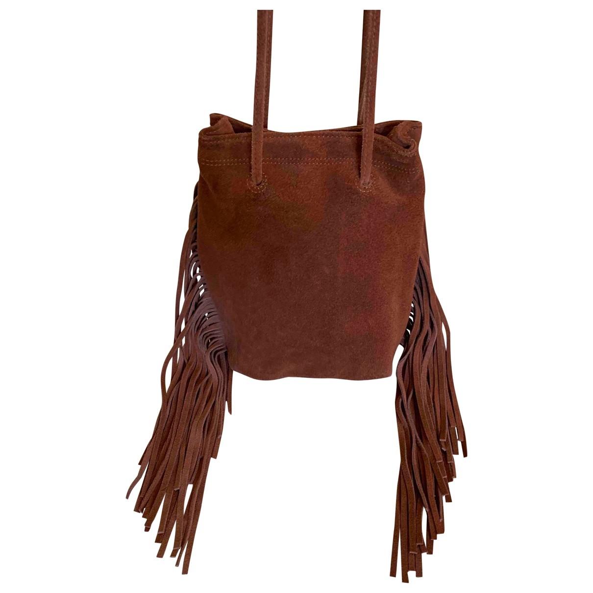 Non Signe / Unsigned \N Handtasche in  Braun Veloursleder