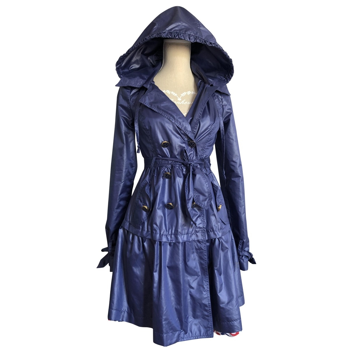 Non Signe / Unsigned \N Trench in  Blau Polyester