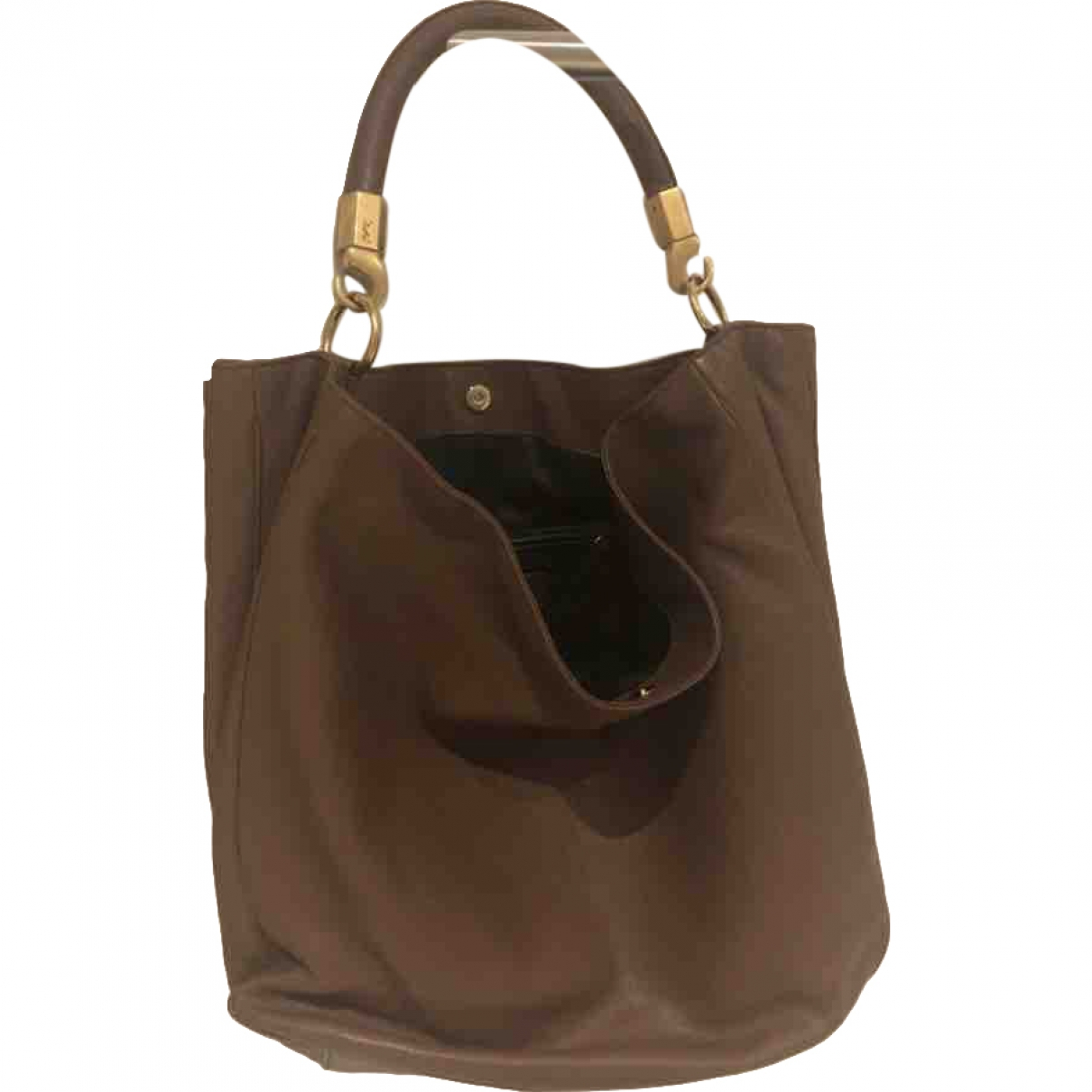 Yves Saint Laurent Roady Grey Leather handbag for Women \N