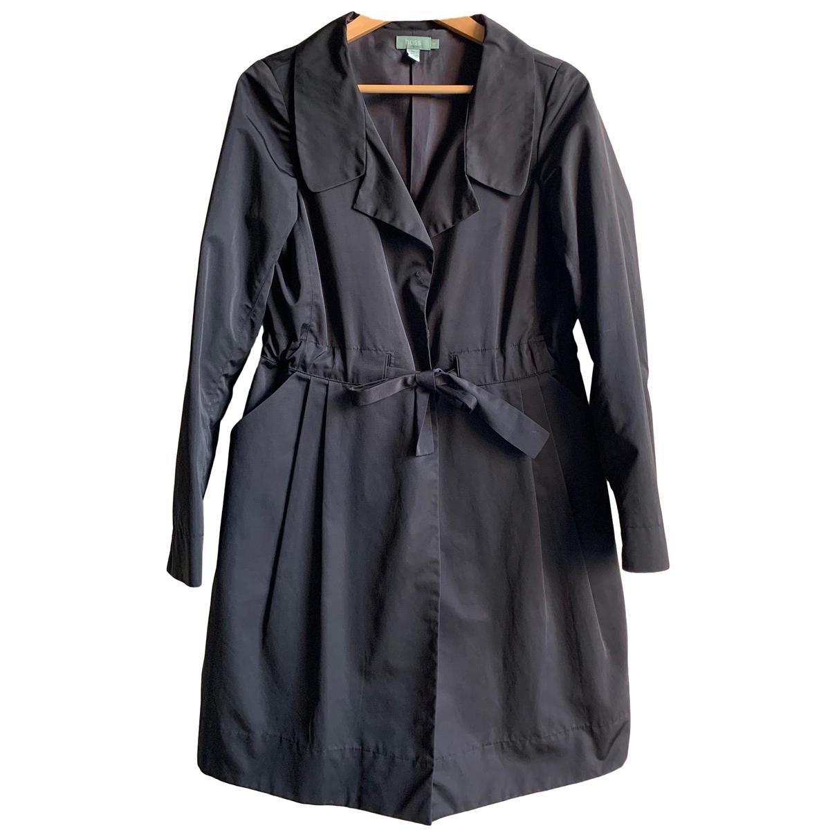 Hoss Intropia - Trench   pour femme en coton - noir