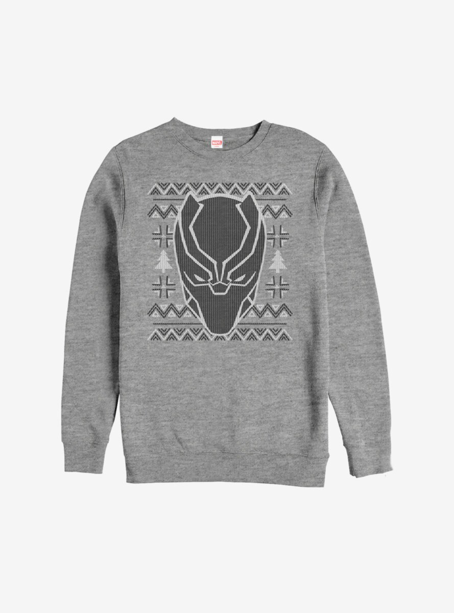 Marvel Black Panther Christmas Pattern Sweatshirt