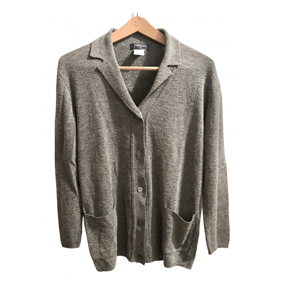 Max Mara Weekend - Pull   pour femme en laine - gris