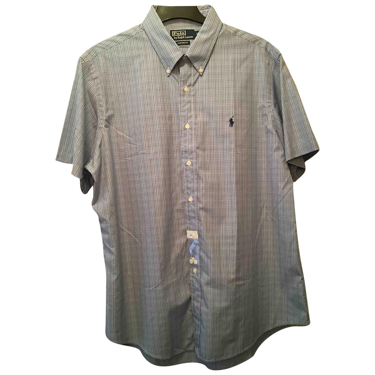 Polo Ralph Lauren N Blue Cotton Shirts for Men XL International
