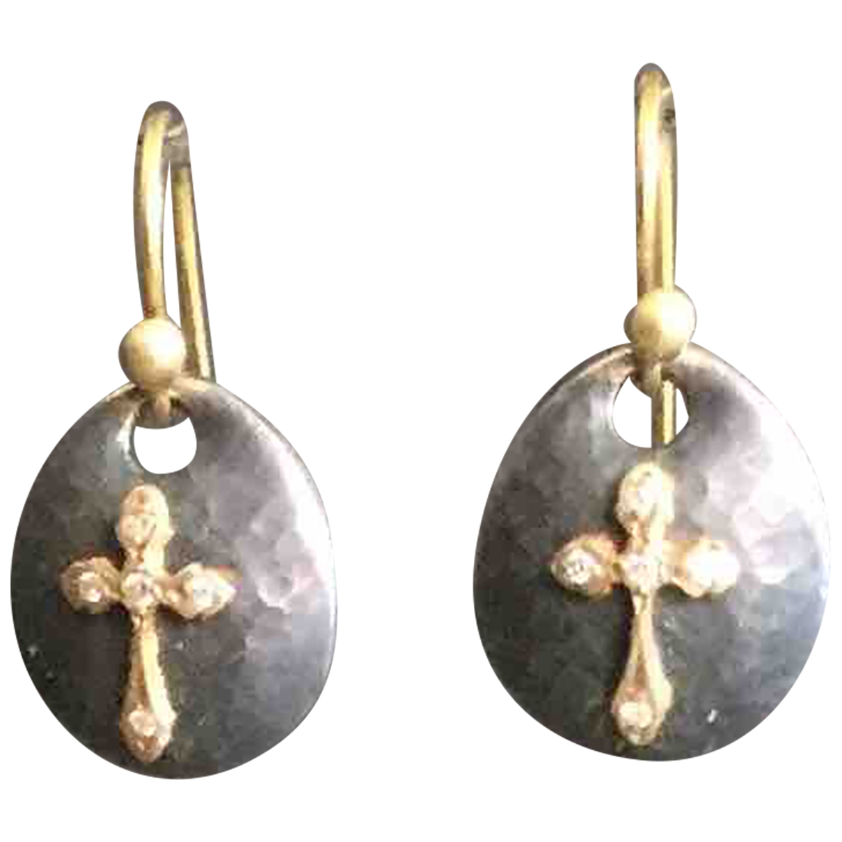 Sara Weinstock \N Anthracite Silver Earrings for Women \N
