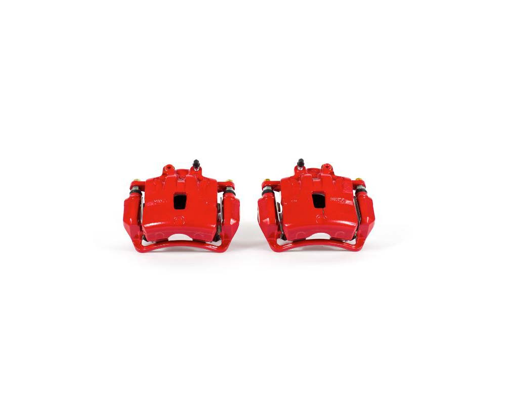 Power Stop S5274 Red Calipers w/Brackets - Pair Front Buick Regal 2016