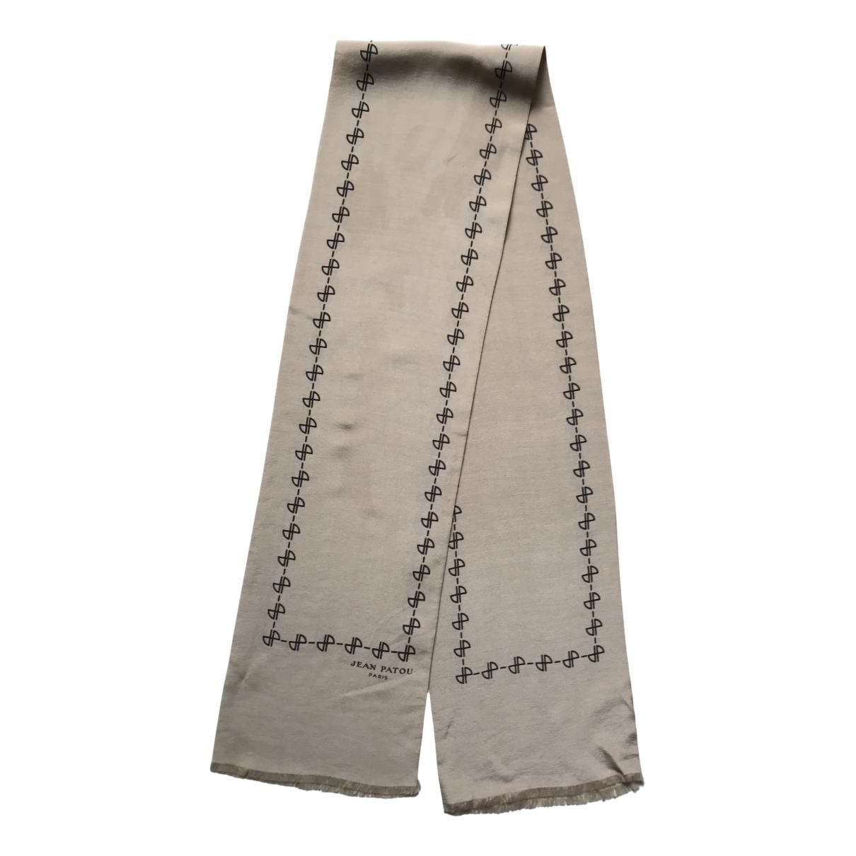 Jean Patou - Foulard   pour femme en soie - beige