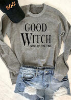 Halloween Good Witch Most Of The Time Sweatshirt - Gray