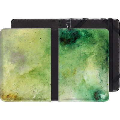 Kobo Aura Edition 2 eBook Reader Huelle - Abstract Galaxy - Green von Barruf