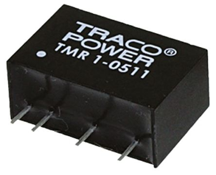 TRACOPOWER TMR 1 1W Isolated DC-DC Converter Through Hole, Voltage in 9 → 18 V dc, Voltage out 12V dc
