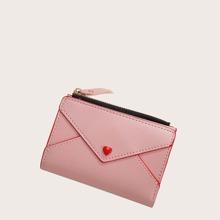 Brieftasche mit Herzen Applikation