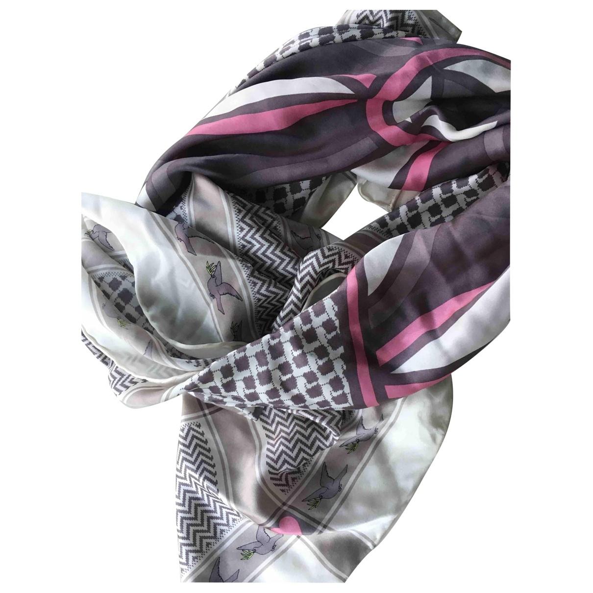 Charlotte Sparre - Foulard   pour femme en soie - gris