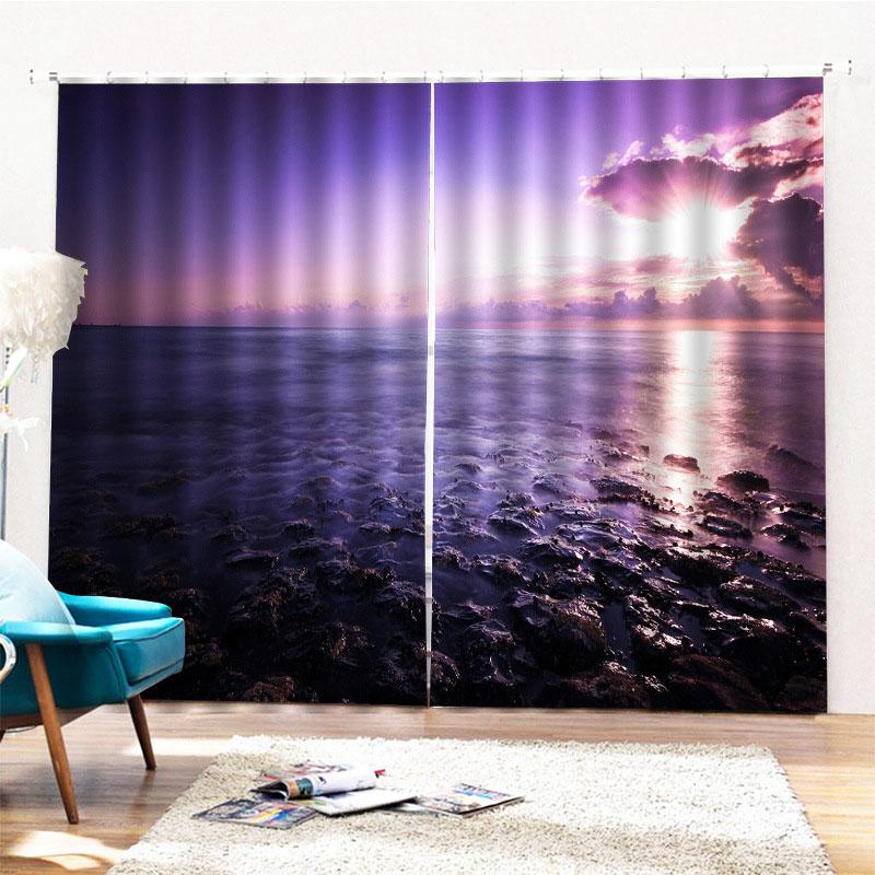 Beddinginn Decoration 3D Sea Modern Curtains/Window Screens