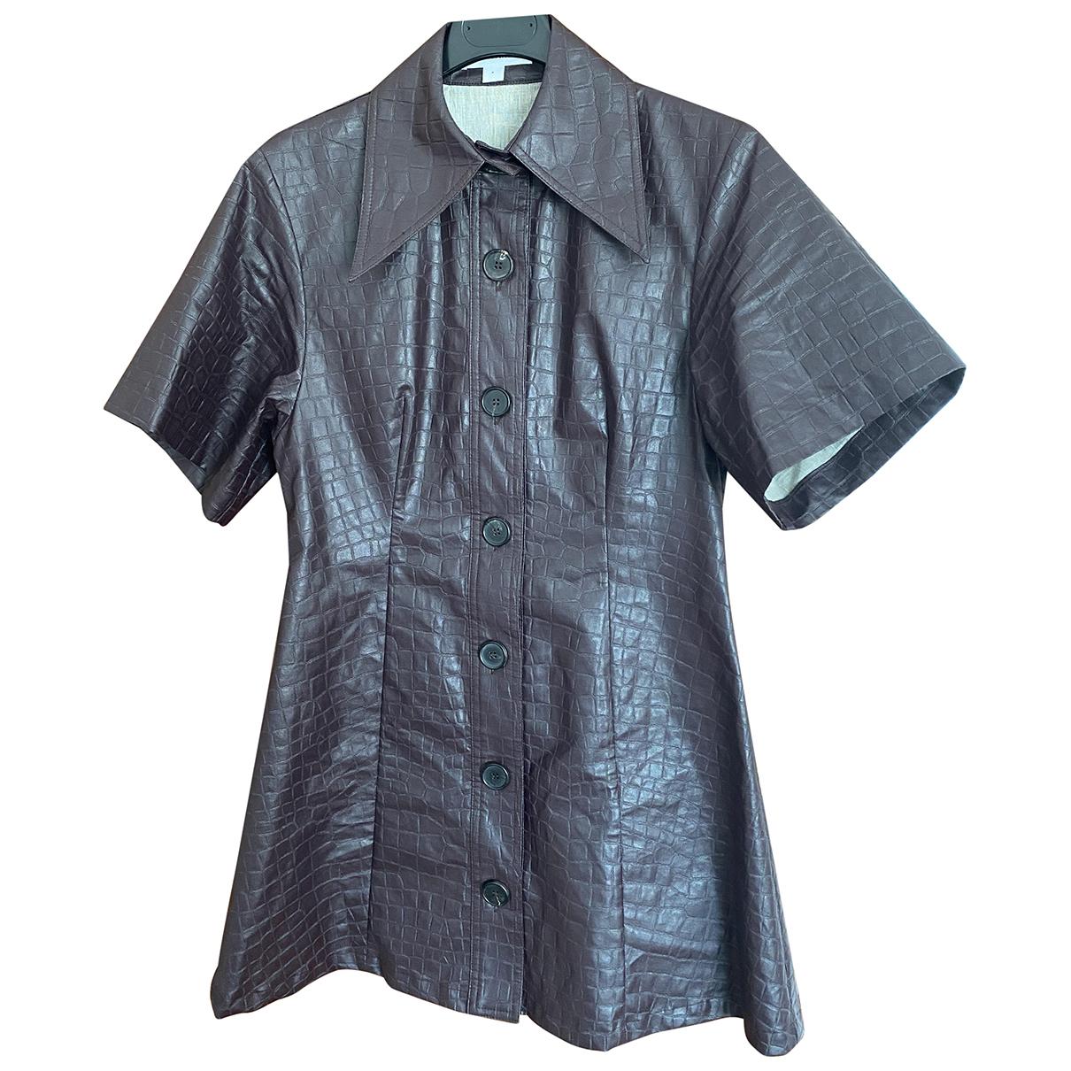 Beaufille \N Kleid in  Bordeauxrot Leinen