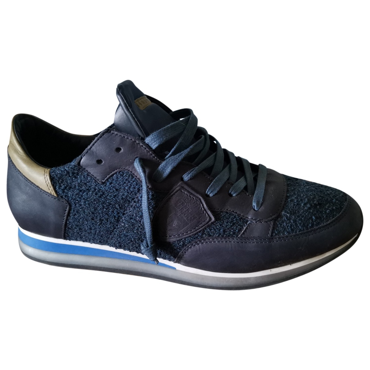 Philippe Model \N Blue Leather Trainers for Men 43 EU