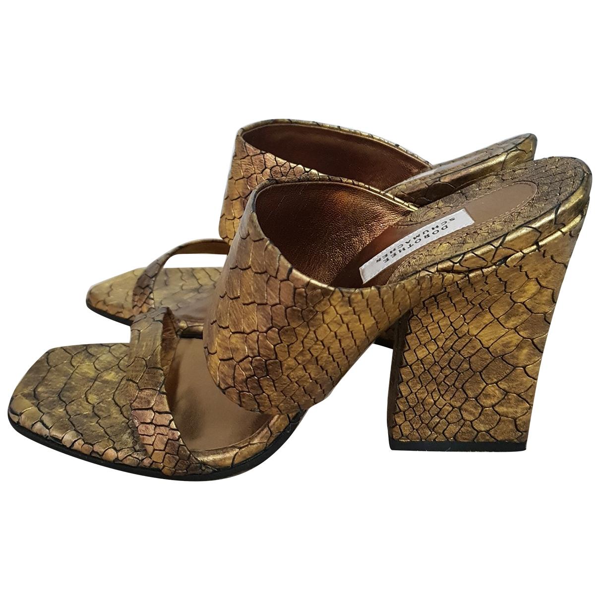 Dorothee Schumacher \N Gold Leather Heels for Women 37.5 EU