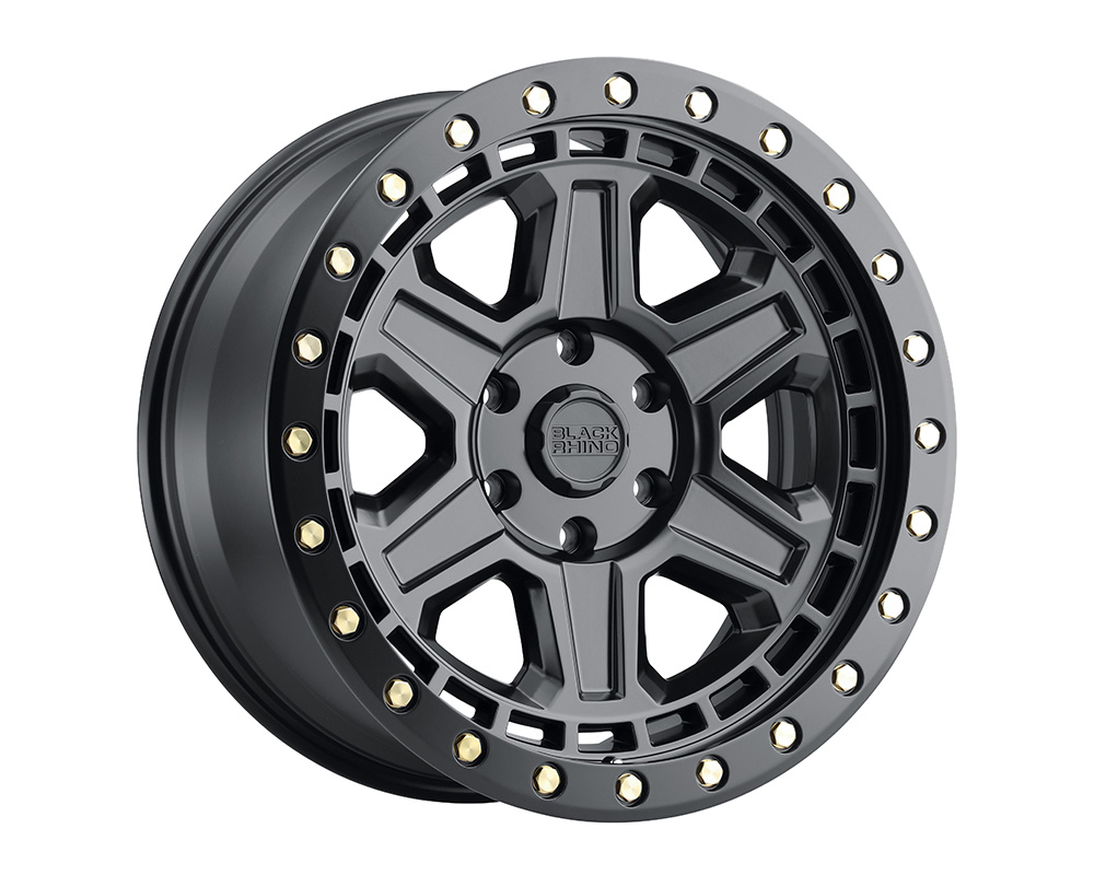 Black Rhino Reno Wheel 18x9.5  5x139.7 0mm Matte Black w/Brass Bolts