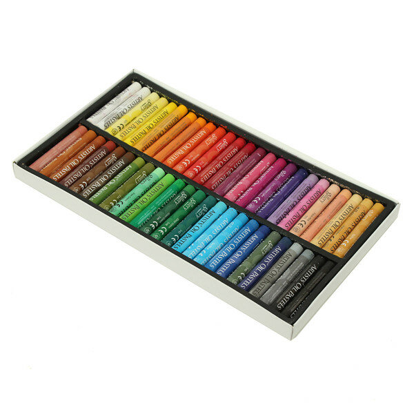 50Pcs Crayon Non-toxic Oil Pastels Drawing Pens Artists Mechanical Drawing Paint Intelligence Toy