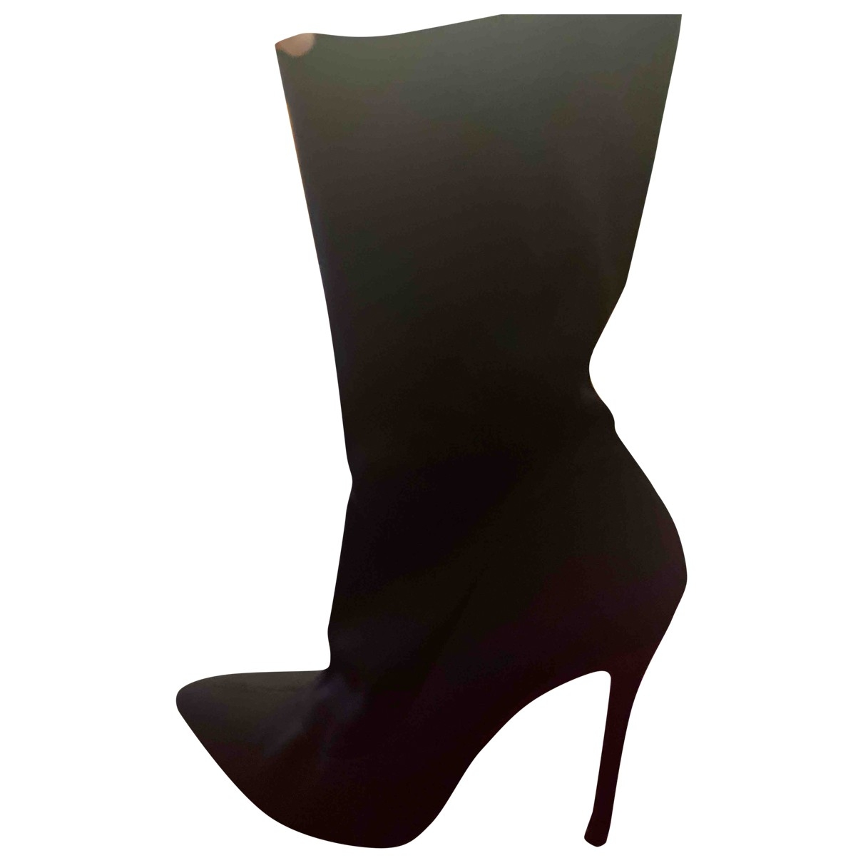 Non Signé / Unsigned \N Black Cloth Boots for Women 38 EU