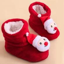 Botas de bebe niña con Papa Noel
