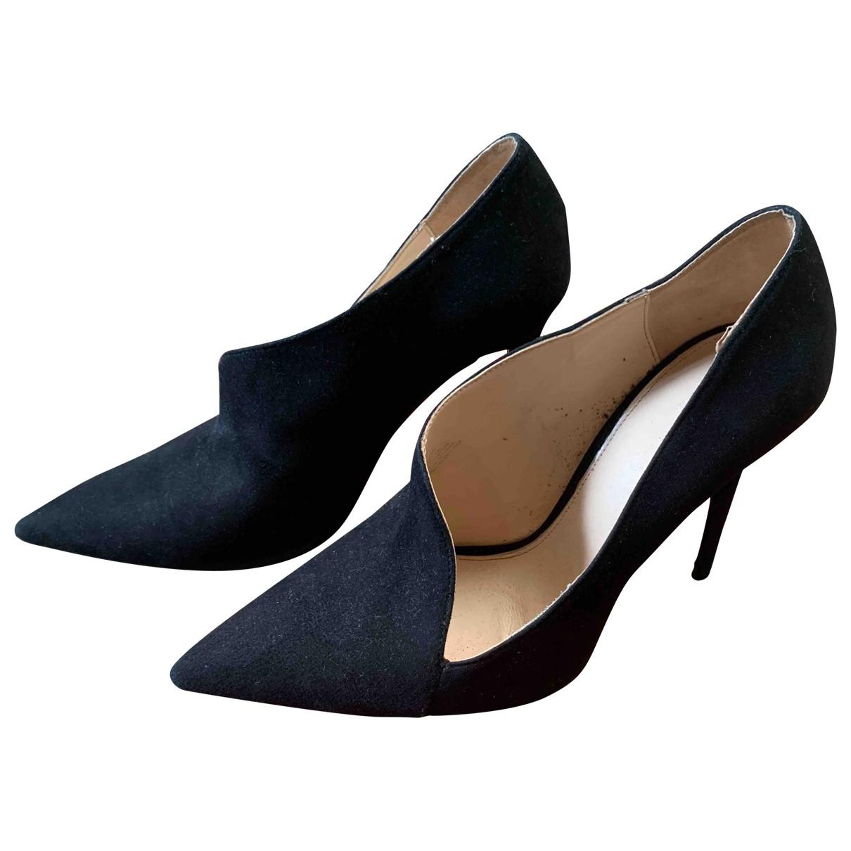 Zara \N Black Suede Heels for Women 40 EU
