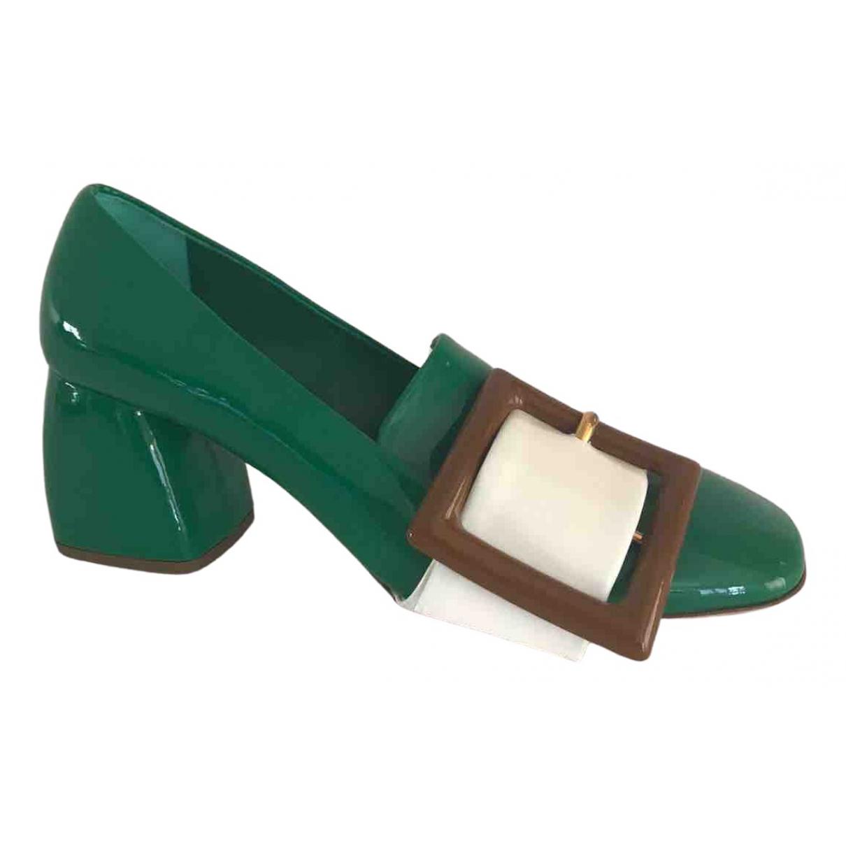 Miu Miu \N Green Patent leather Heels for Women 36 IT