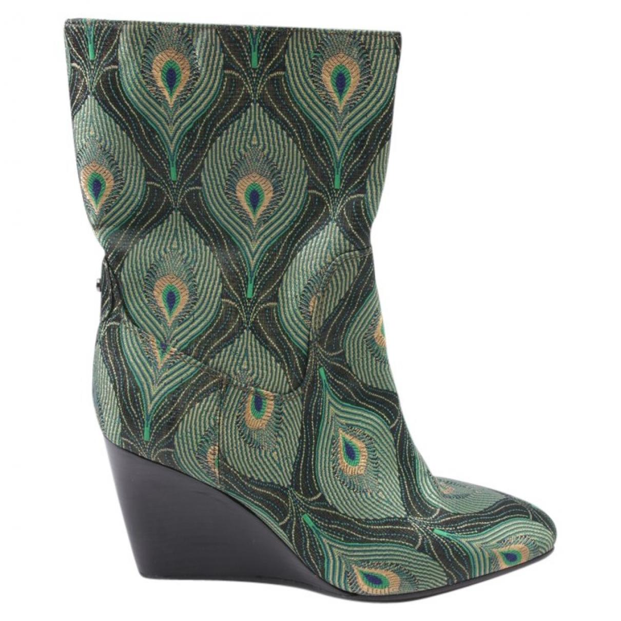 Autre Marque - Boots   pour femme en cuir - multicolore