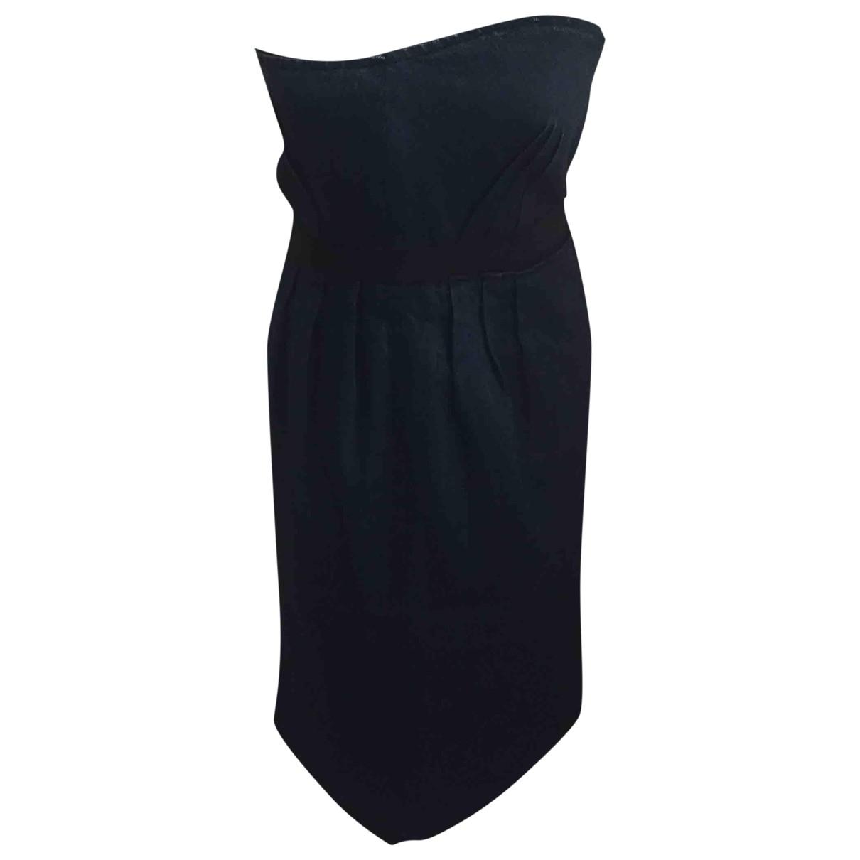 Lanvin \N Kleid in  Marine Baumwolle - Elasthan