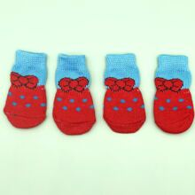 4pcs Polka Dot Dog Socks