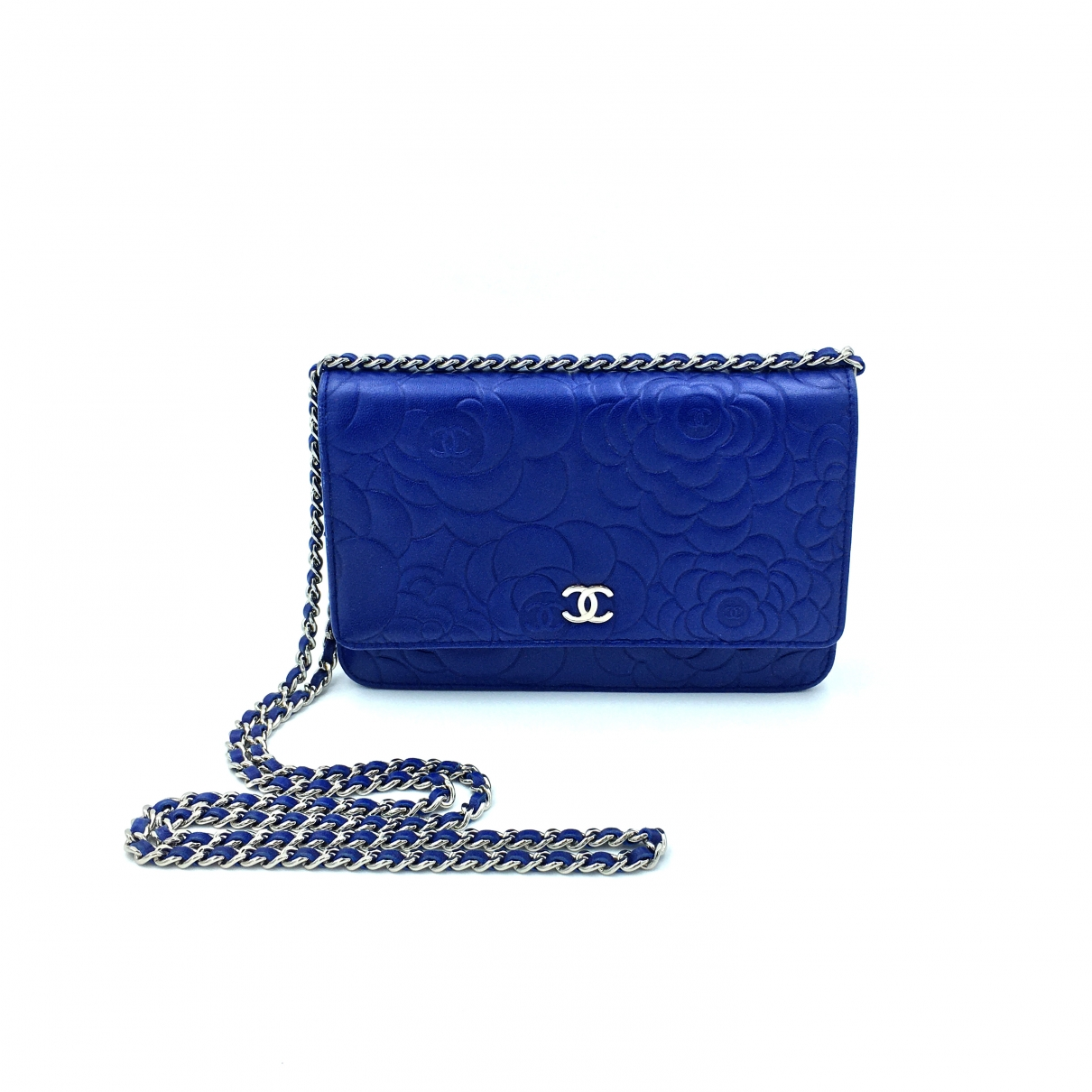 Chanel - Sac a main Wallet on Chain pour femme en cuir - bleu