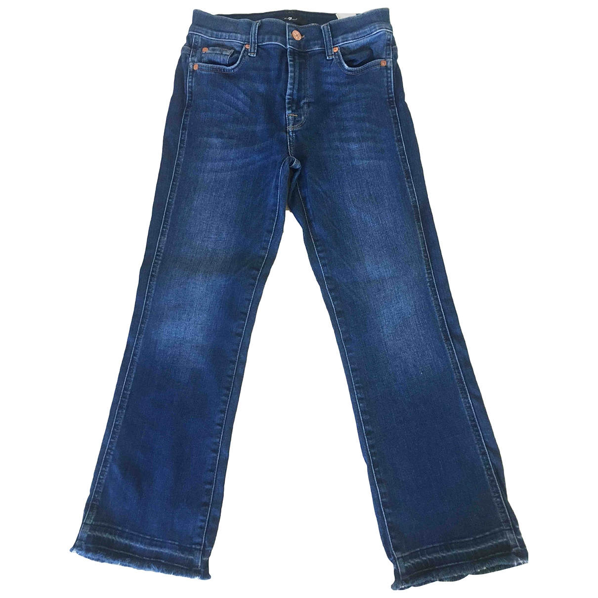 7 For All Mankind \N Blue Denim - Jeans Jeans for Women 26 US