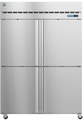 R2A-HS 55 Steelheart Series Two Section Half Door Reach-In Refrigerator with 50.37 cu. ft. Capacity  6 Adjustable Shelves  4 Casters and LED