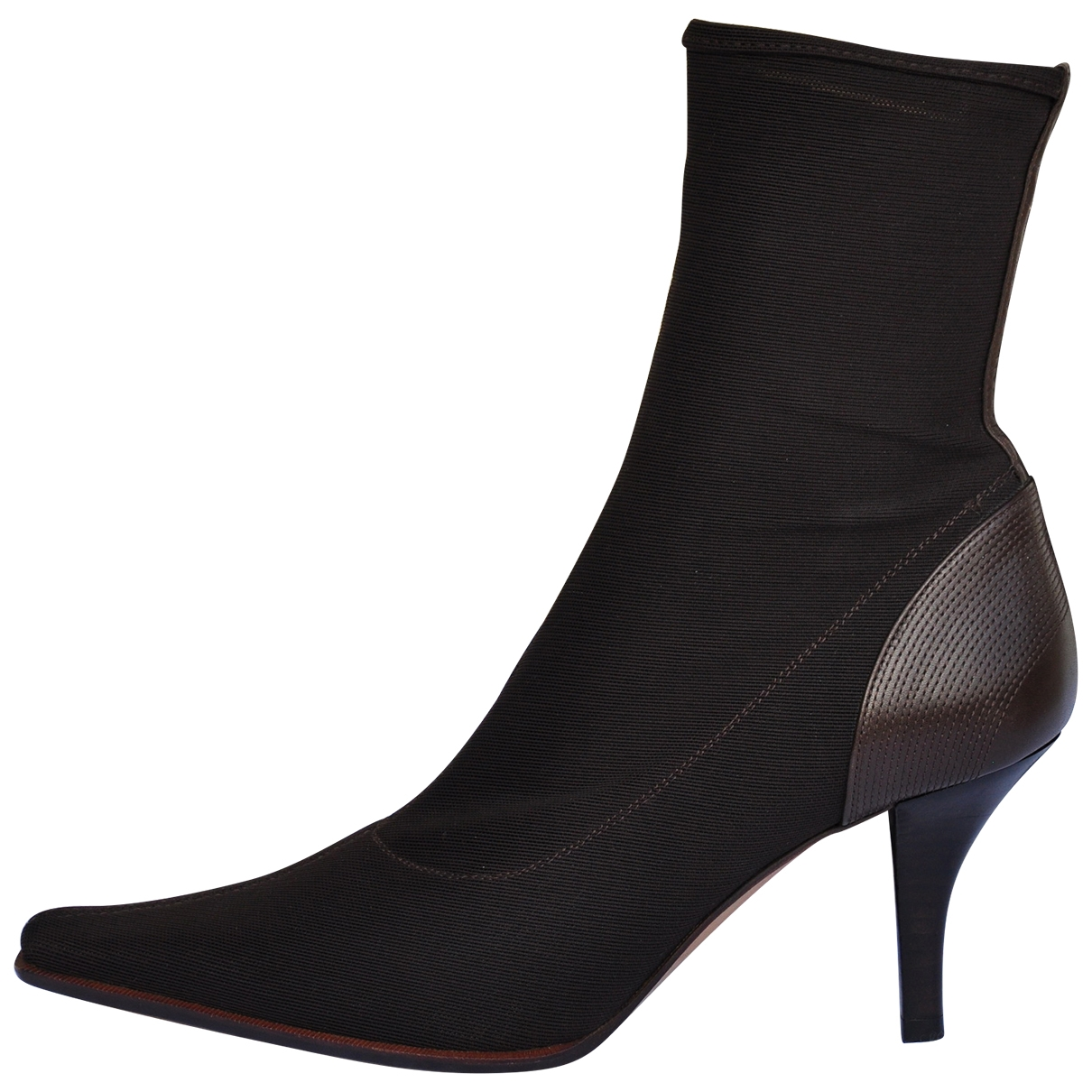 Sergio Rossi \N Brown Cloth Ankle boots for Women 35.5 IT