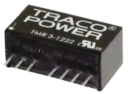 TRACOPOWER TMR 3HI 3W Isolated DC-DC Converter Through Hole, Voltage in 9 → 18 V dc, Voltage out ±12V dc