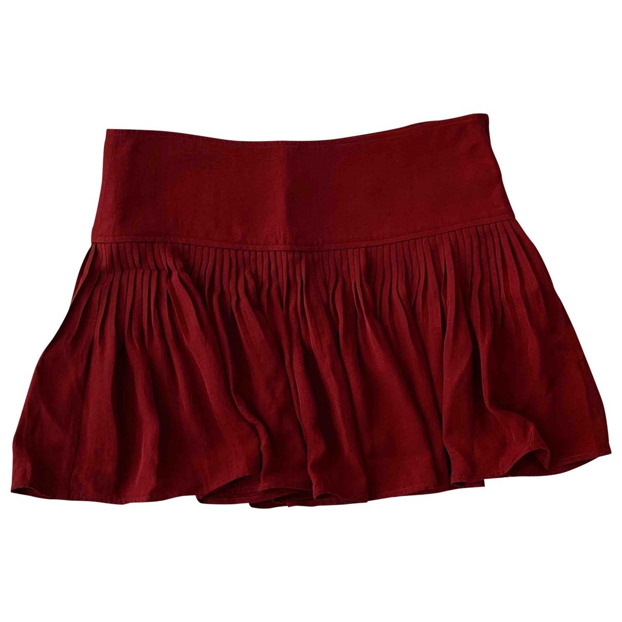 Isabel Marant Etoile \N Burgundy skirt for Women 40 FR