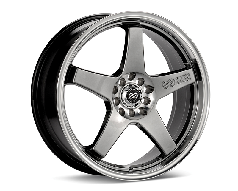 Enkei EV5 Wheel Performance Series Hyper Black w/ Machined Lip 18x7.5 5x100/114.3 45mm