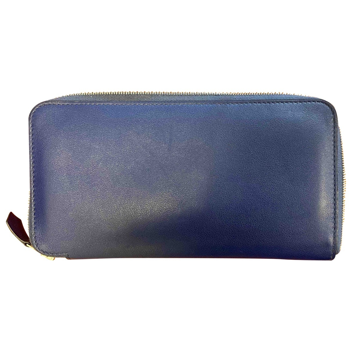 Hermès \N Blue Leather Small bag, wallet & cases for Men \N