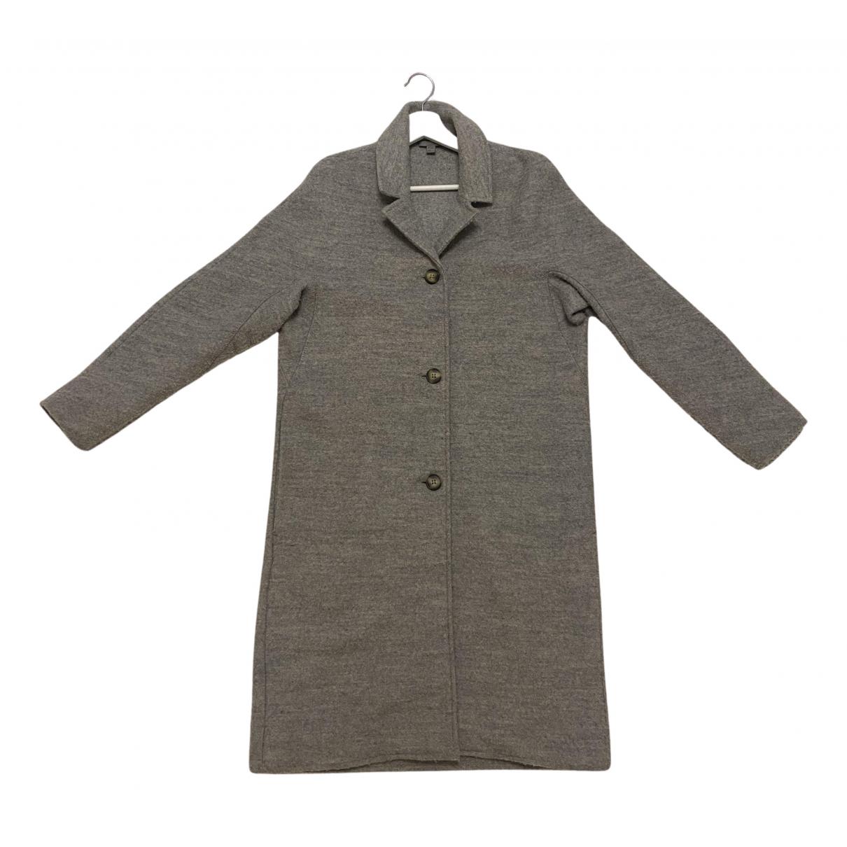 Cos - Manteau   pour femme en laine - gris
