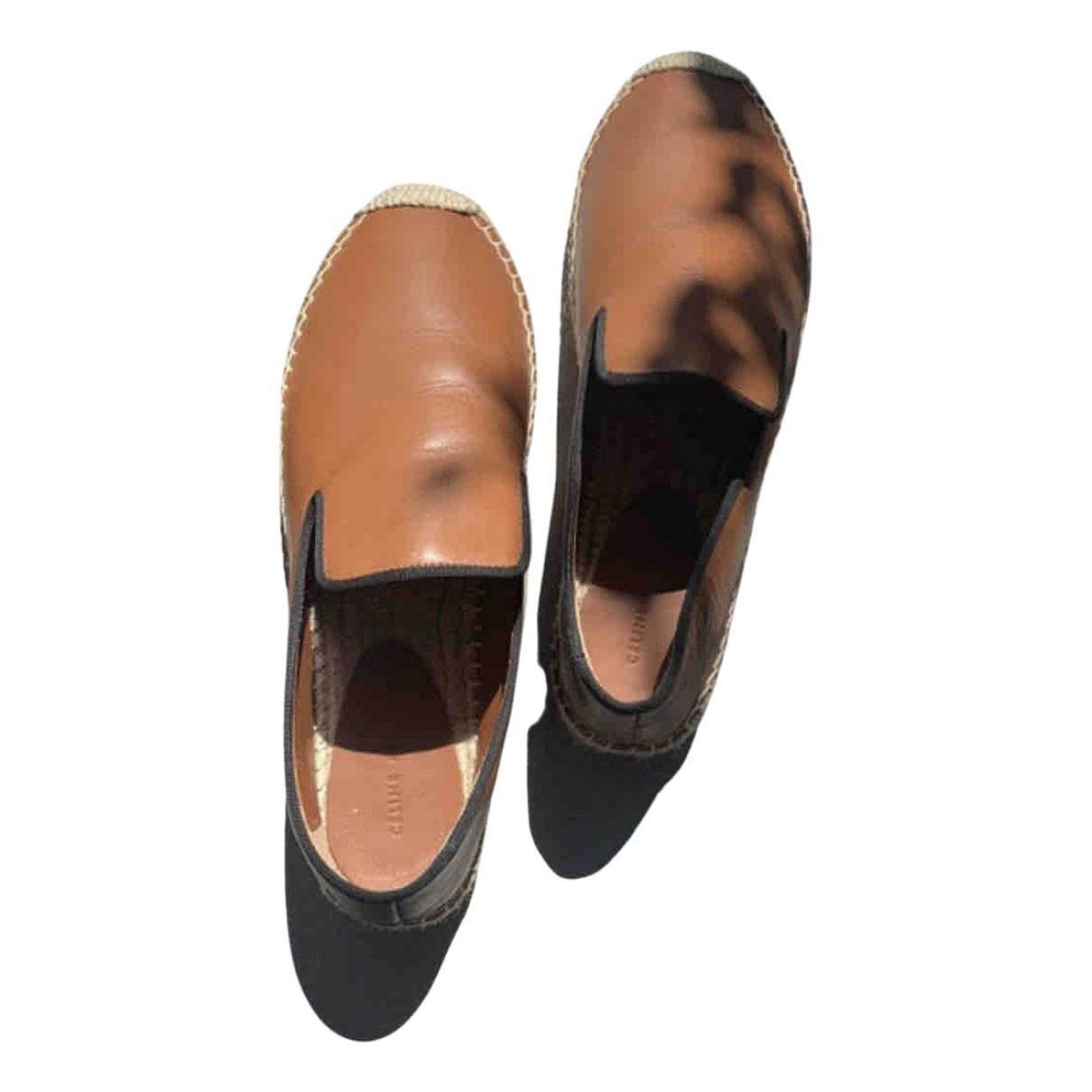 Celine - Espadrilles   pour femme en cuir - marron