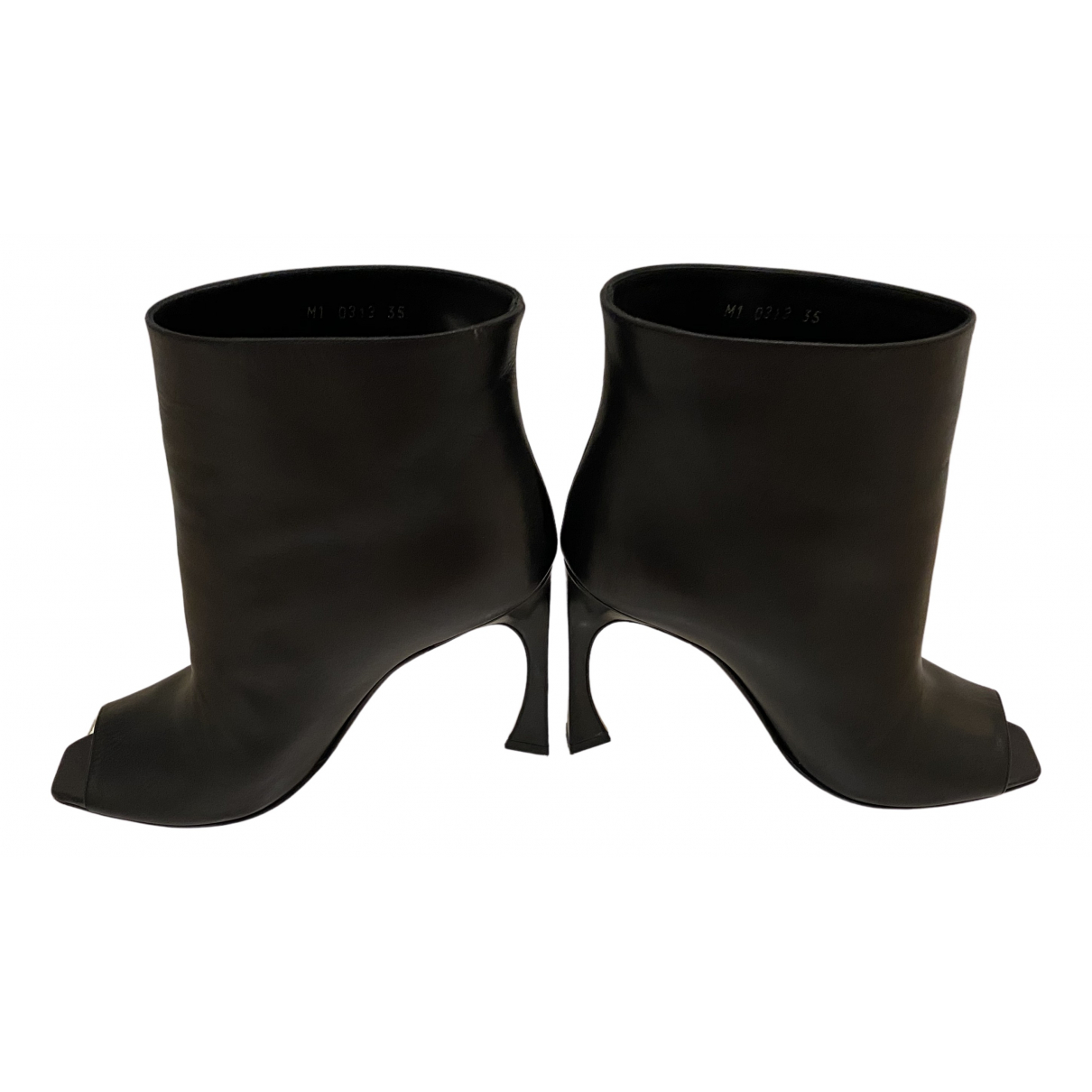 Dior \N Stiefeletten in  Schwarz Leder