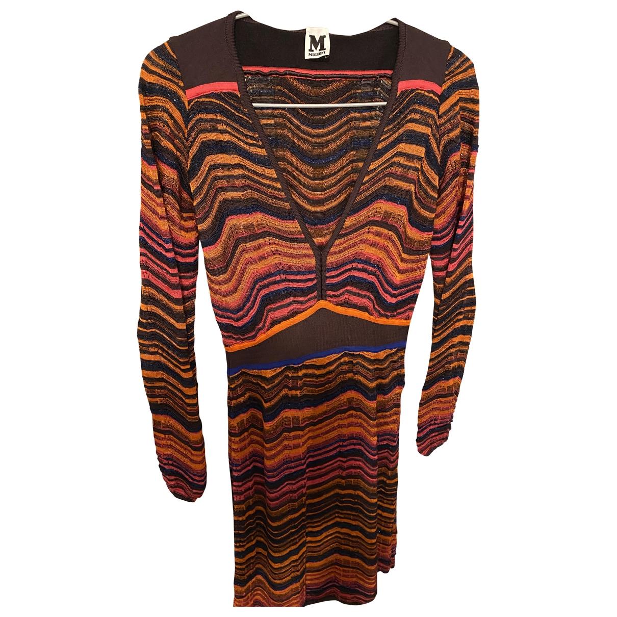 M Missoni - Robe   pour femme en coton - elasthane - orange