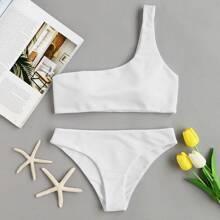 Ein-Schulter Bikini Set