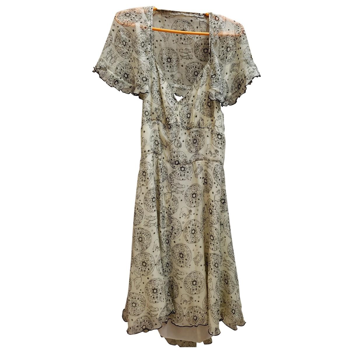 Anna Sui \N Kleid in  Schwarz Seide