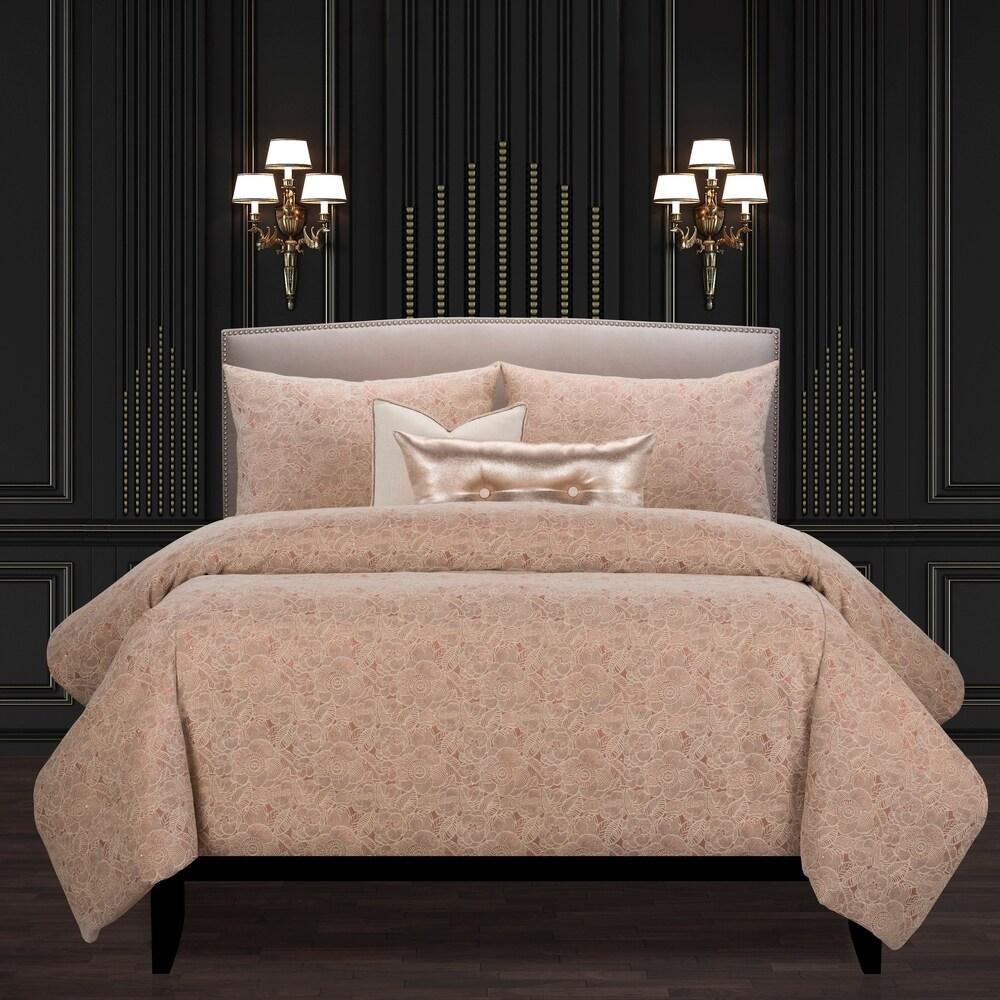 F Scott Fitzgerald Garden Party Rose Luxury Duvet Cover and Insert Set (Full)