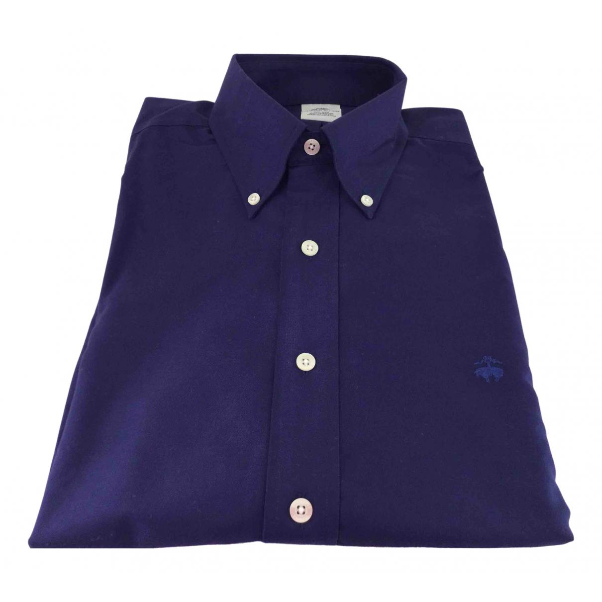 Brooks Brothers - Chemises   pour homme en coton - bleu
