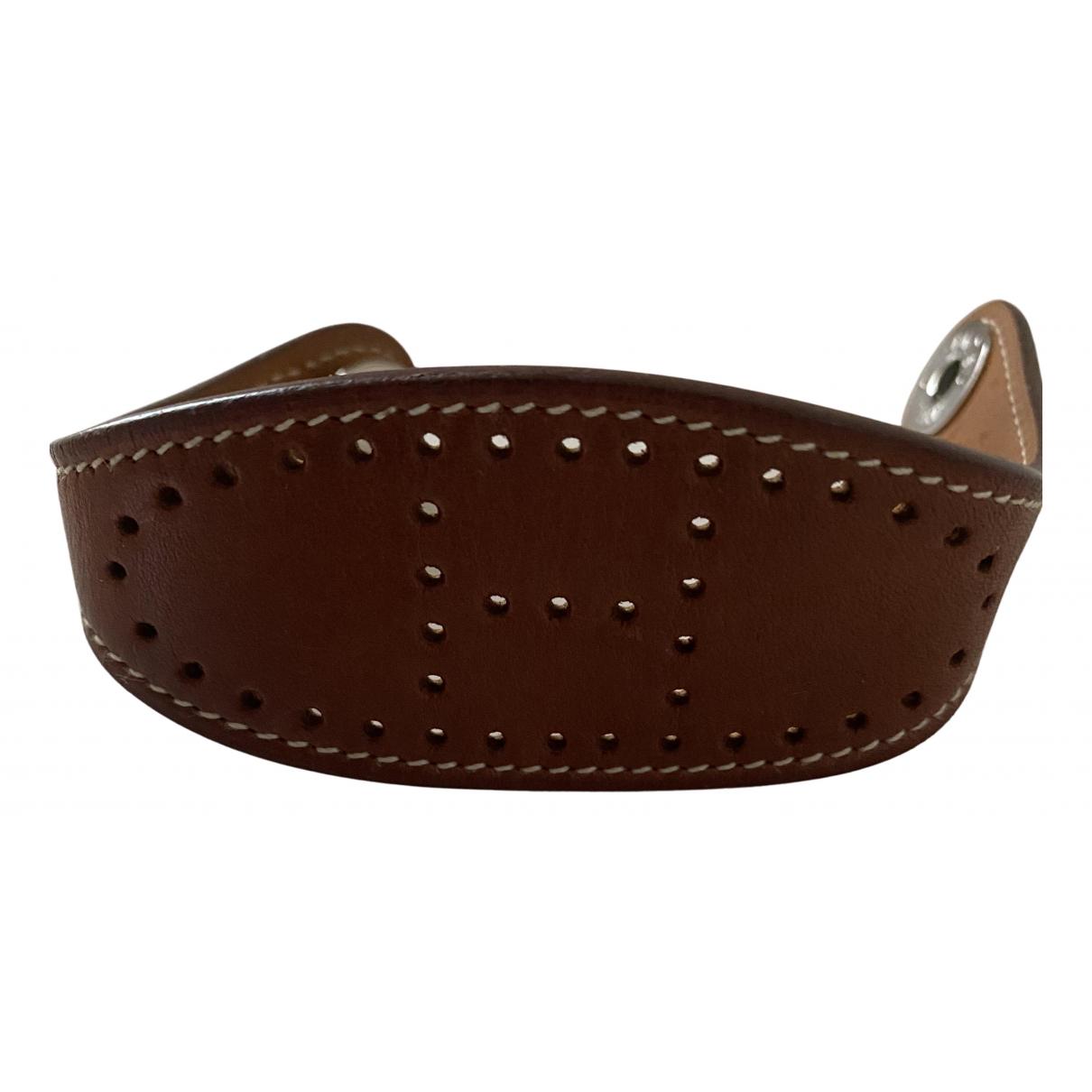 Hermès Clarté Brown Leather bracelet for Women N