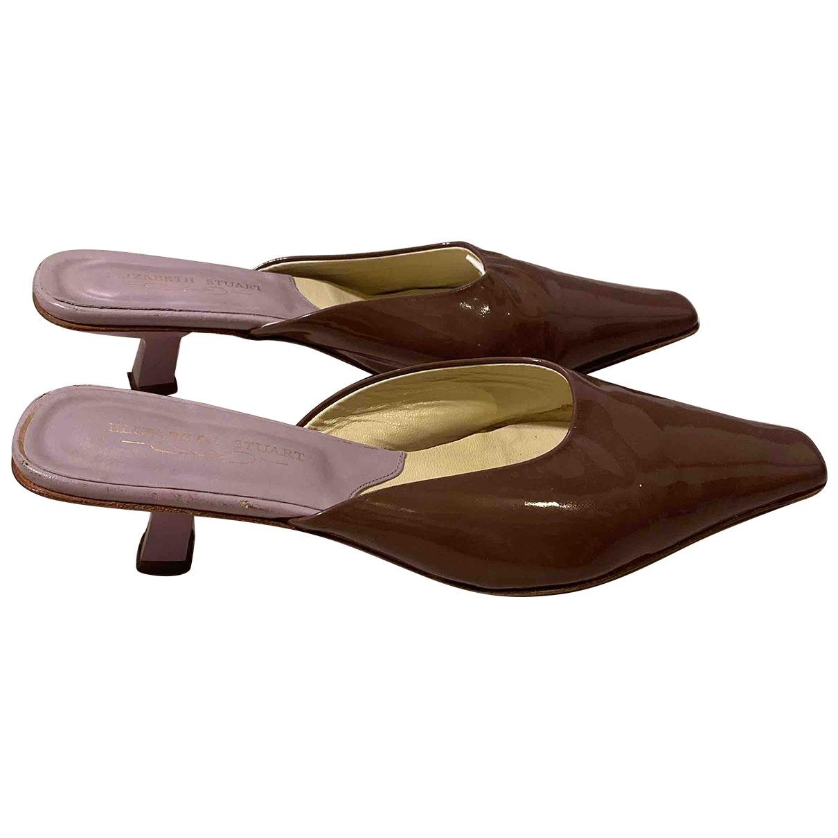 Elisabeth Stuart \N Purple Leather Heels for Women 38 EU